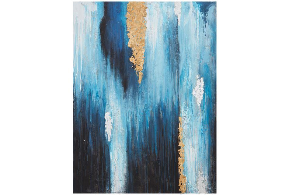 Surf Blue Canvas Wall Art