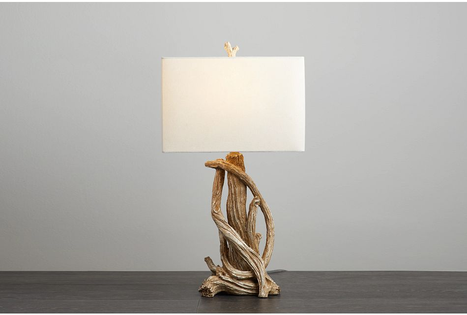 Tangle Light Brown Table Lamp