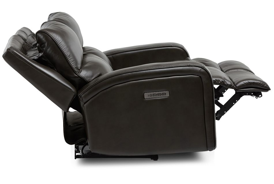 Declan Dark Brown  LTHR/VINYL Power Reclining Loveseat