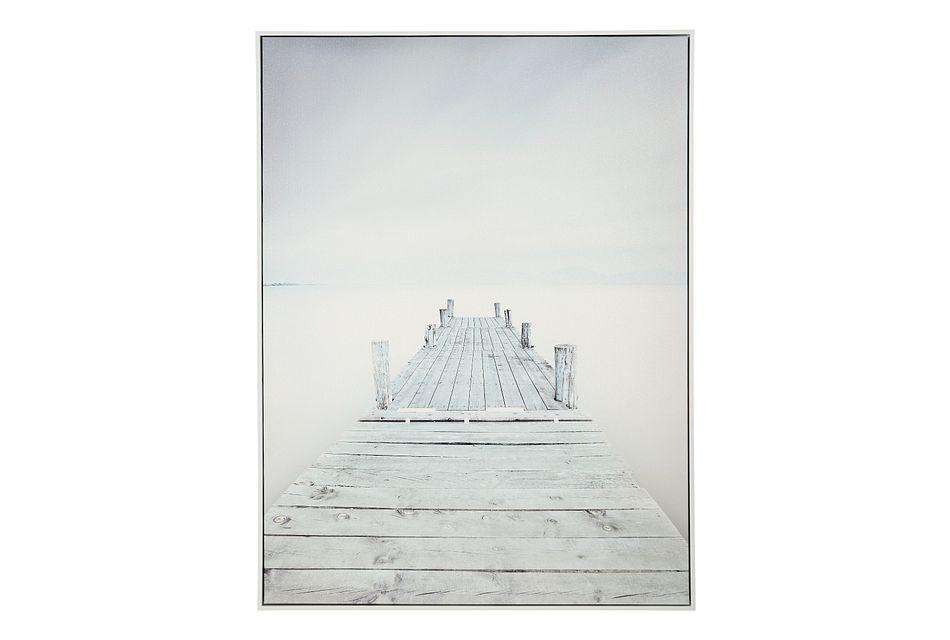 Boardwalk White Canvas Wall Art