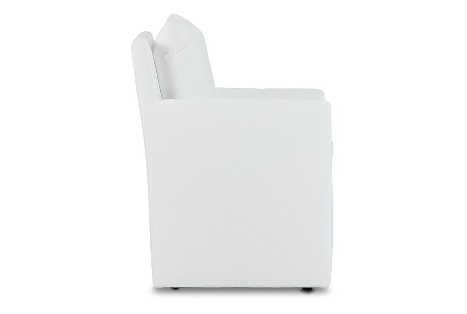 Auden WHITE CASTORED Upholstered Arm Chair,  (2)