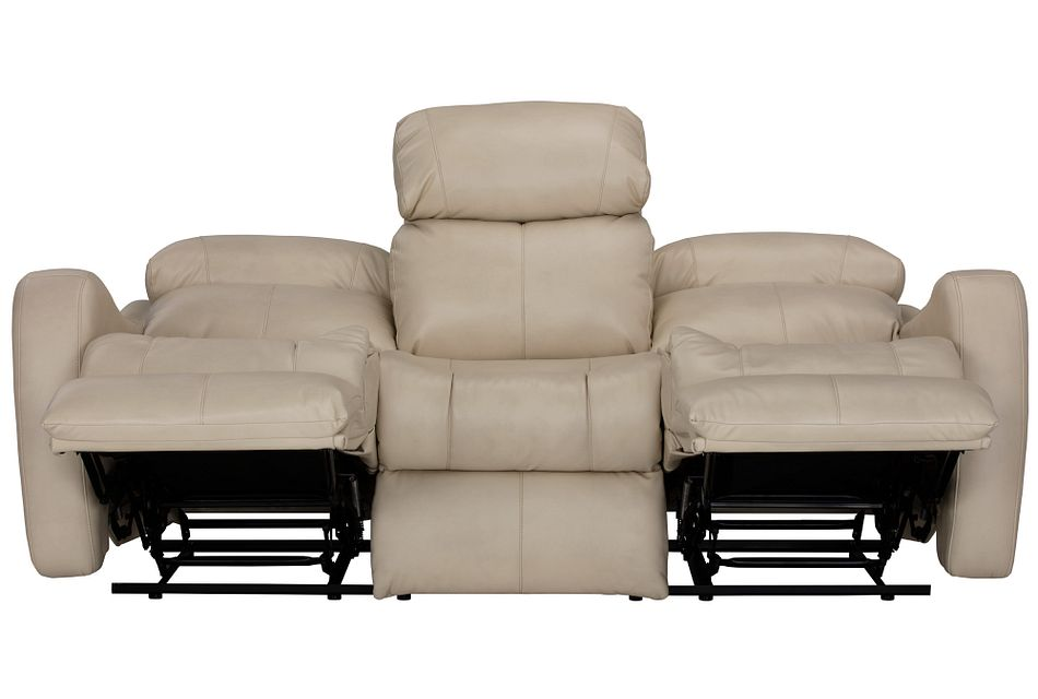 Finn Light Beige  Micro Reclining Sofa