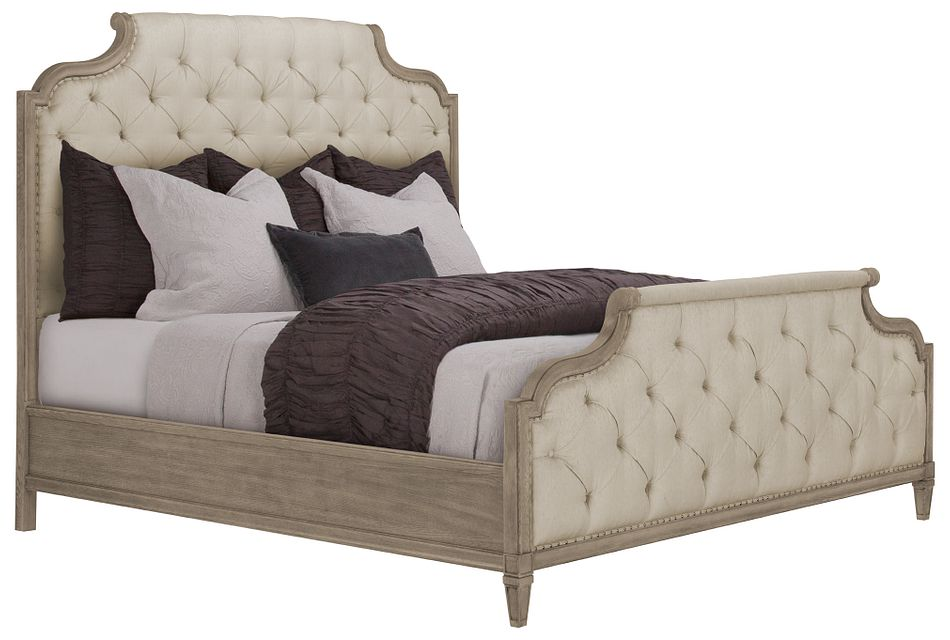 Marquesa Gray Uph Panel Bed, King (0)