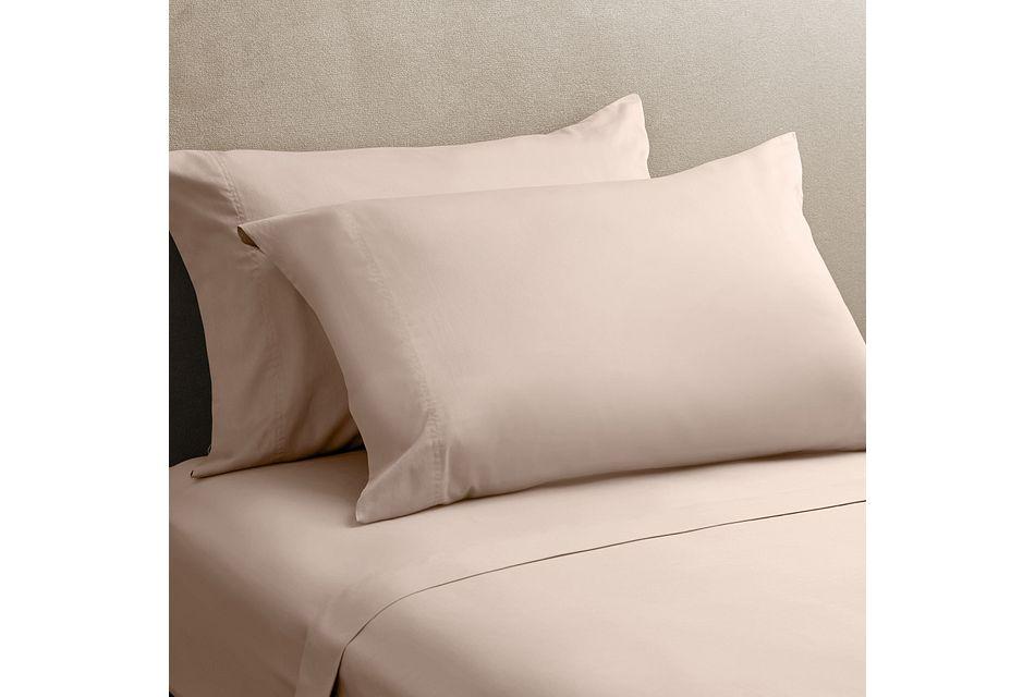 Cotton Sateen Pink 300 Thread Sheet Set