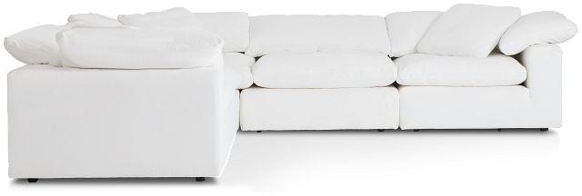Nixon White Fabric 5-piece Modular Sectional