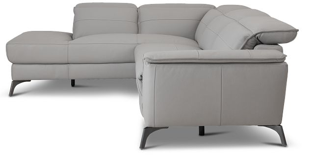 Pearson Gray Leather Left Bumper Sectional (2)