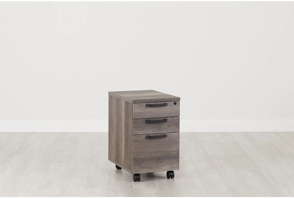 Milton Gray File Cabinet, %%bed_Size%% (0)