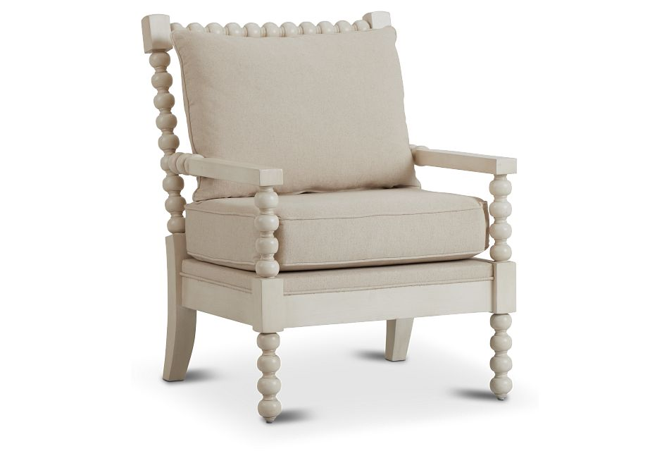 Savannah Ivory Accent Chair,  (1)