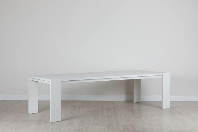 """Linear White 110"""" Rectangular Table (0)"""