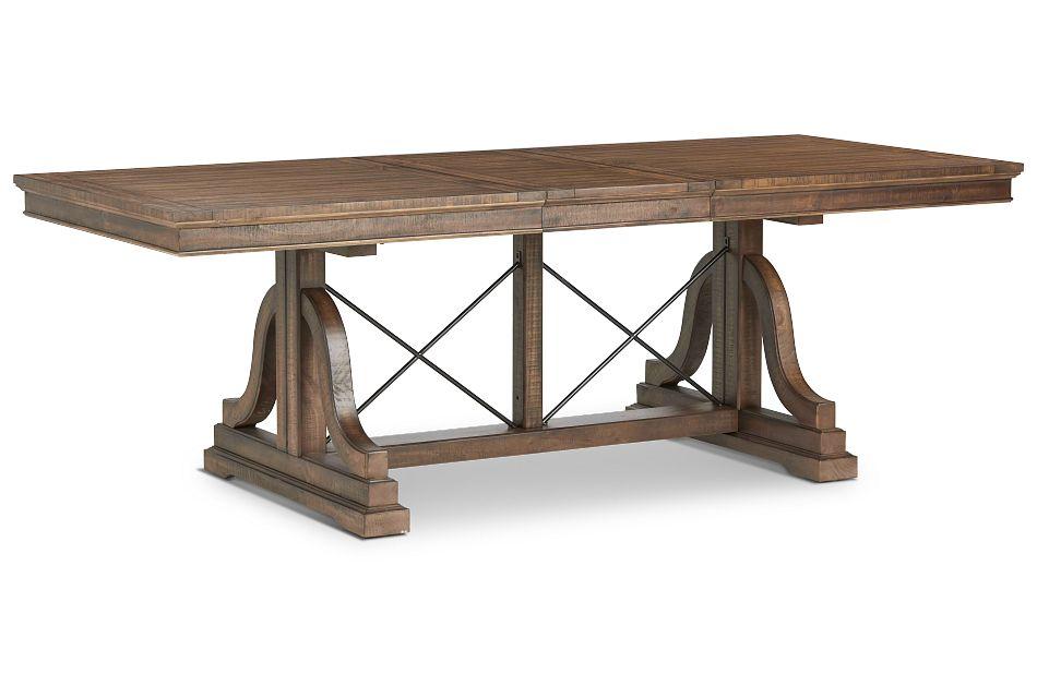 Heron Cove Mid Tone Trestle Table,  (2)
