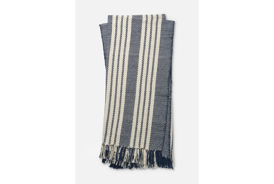 Tanzy Dark Blue Throw