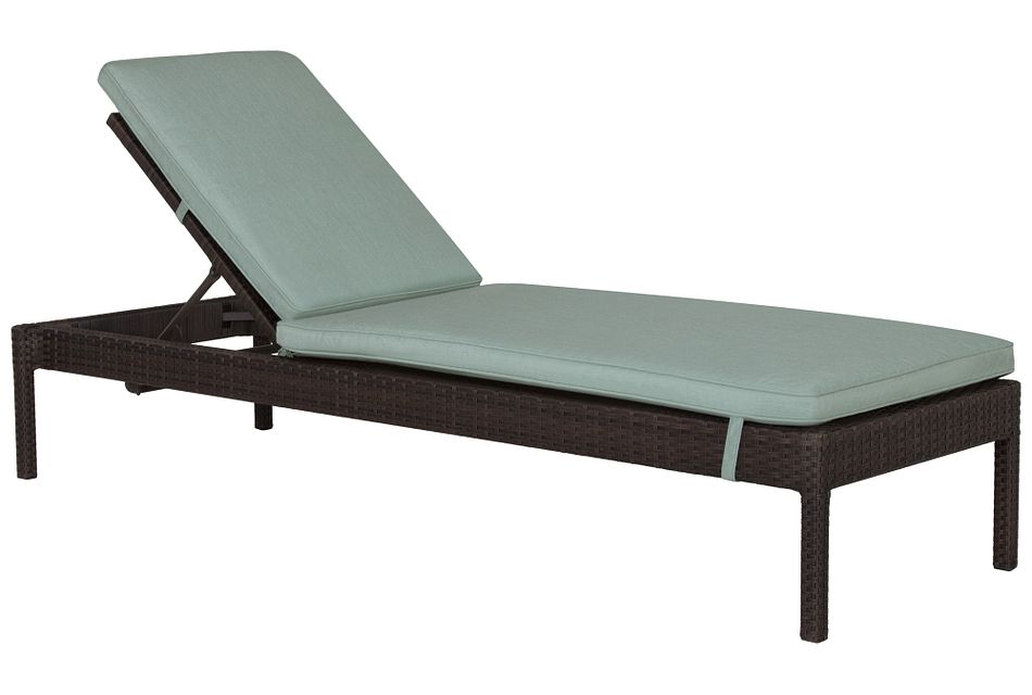 Zen Teal Cushioned Chaise,