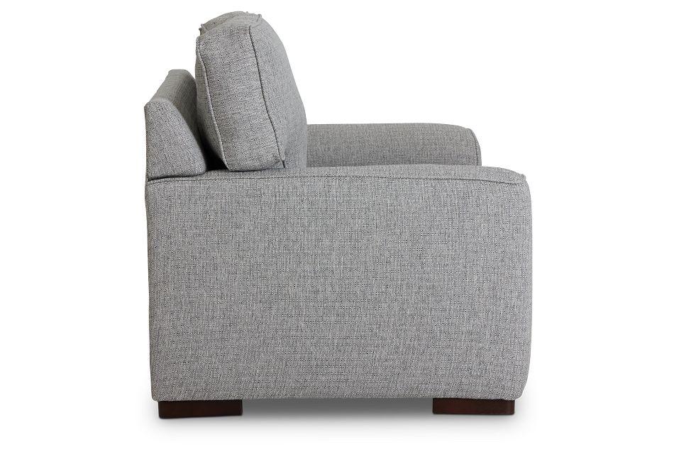 Austin Gray Fabric Loveseat,  (3)