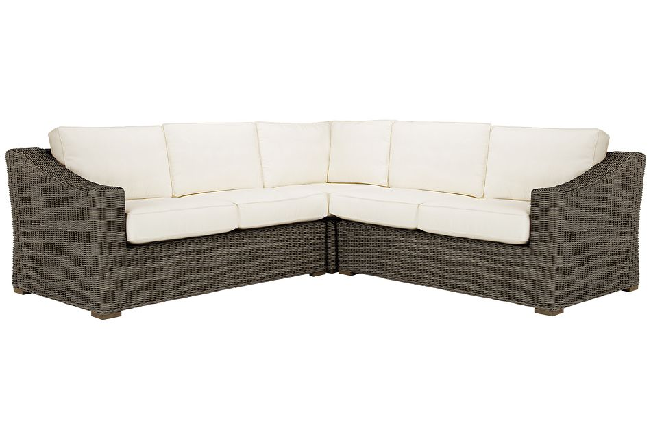Canyon Gray White Small Two-arm Sectional