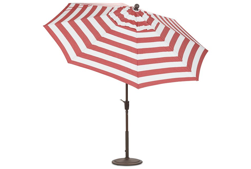 Maui Red Stripe Umbrella Set