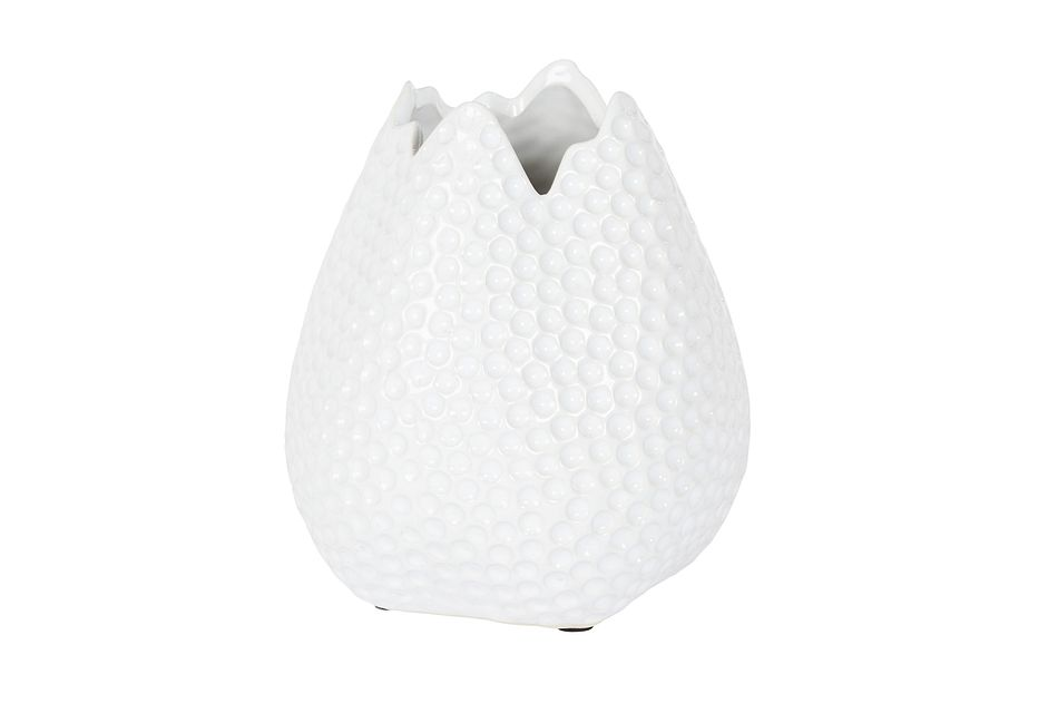 Heather White Small Vase