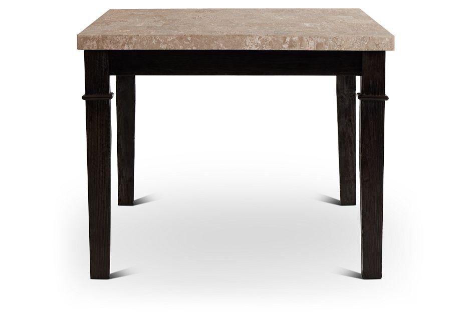 Portia Dark Tone Marble Rectangular Table,  (3)