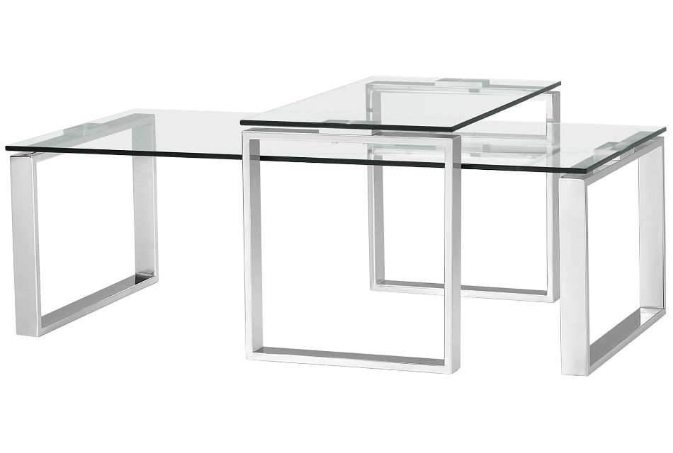 Katrina Clear Gl 2 Pack Tables