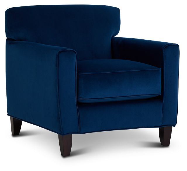 Royale Blue Fabric Accent Chair (1)