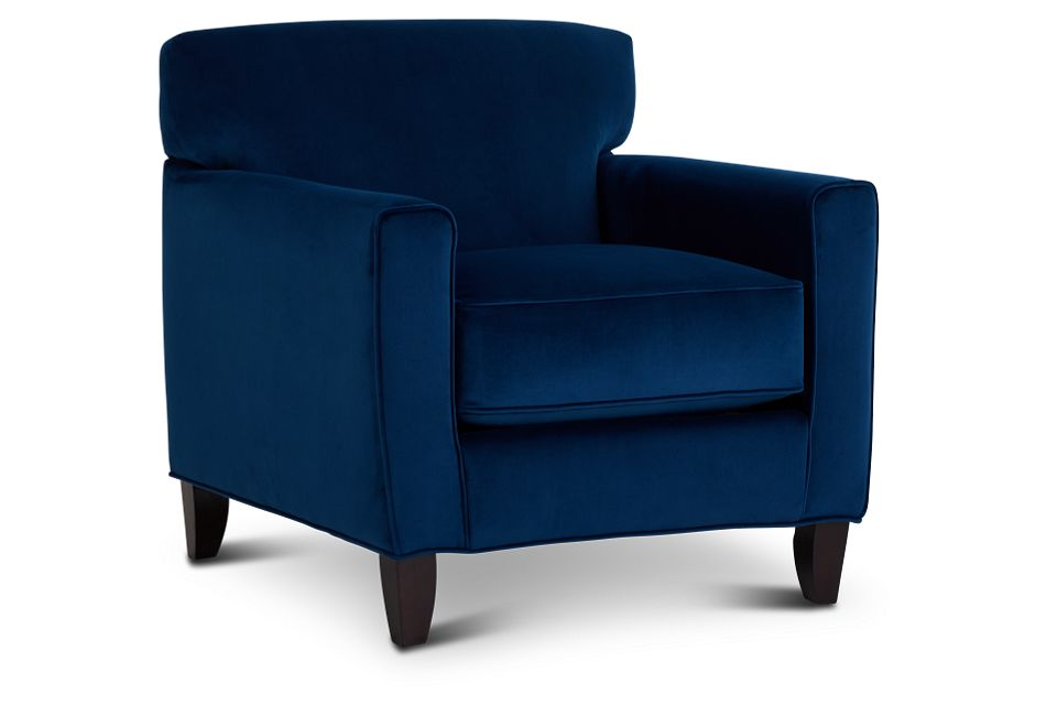 Royale Blue Accent Chair,  (1)