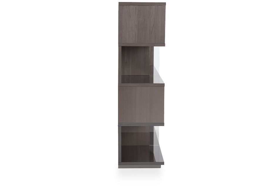 Athena Dark Gray Bookcase,  (3)