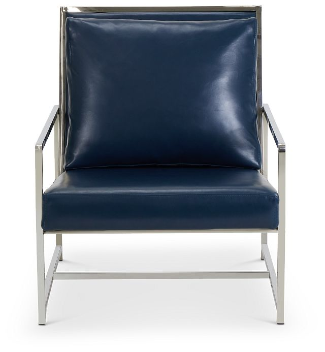 Harvey Blue Uph Accent Chair (3)