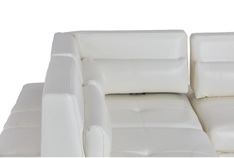 Alec White Micro Left Chaise Sectional