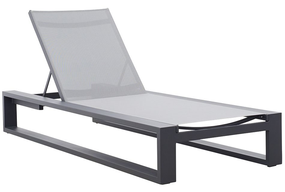 Linear Dark Gray Aluminum Chaise