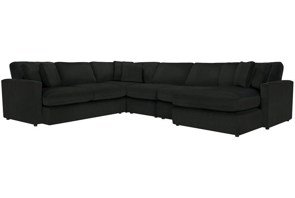 Tara2 Dark Gray  MICRO Right Chaise Sectional