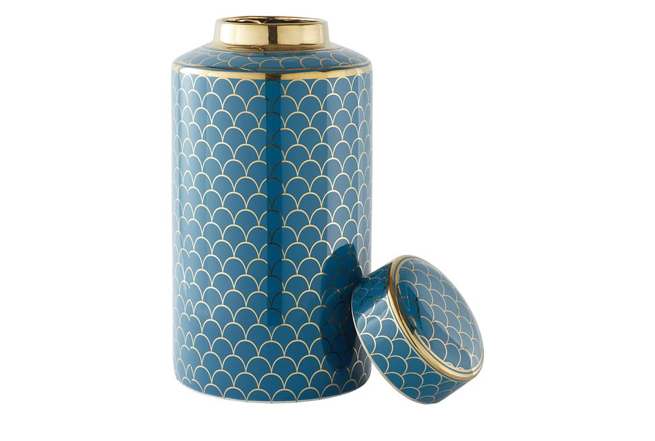 Dahlia Blue Small Urn