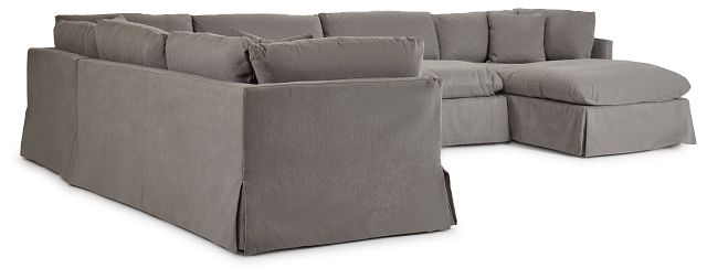 Raegan Gray Fabric Large Right Chaise Sectional (0)