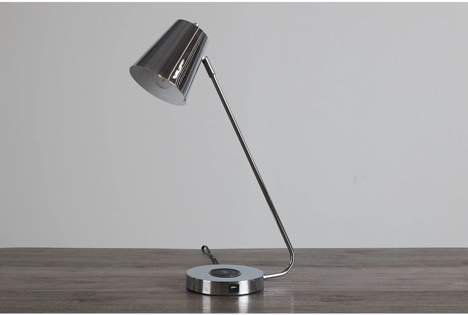 Kara Chrome Desk Lamp,  (0)