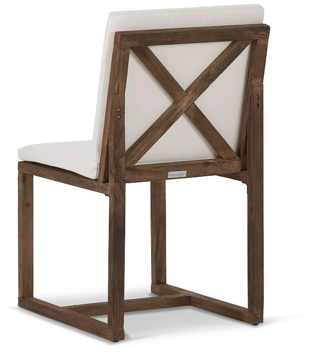 Linear Teak White Side Chair (3)