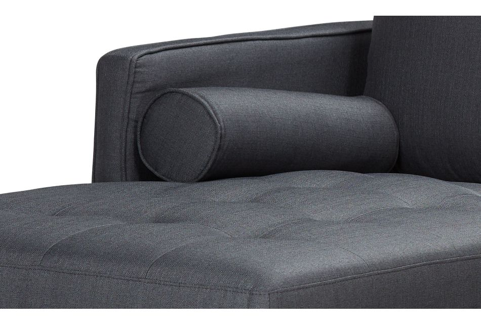 Rue Gray Fabric Left Chaise Sectional