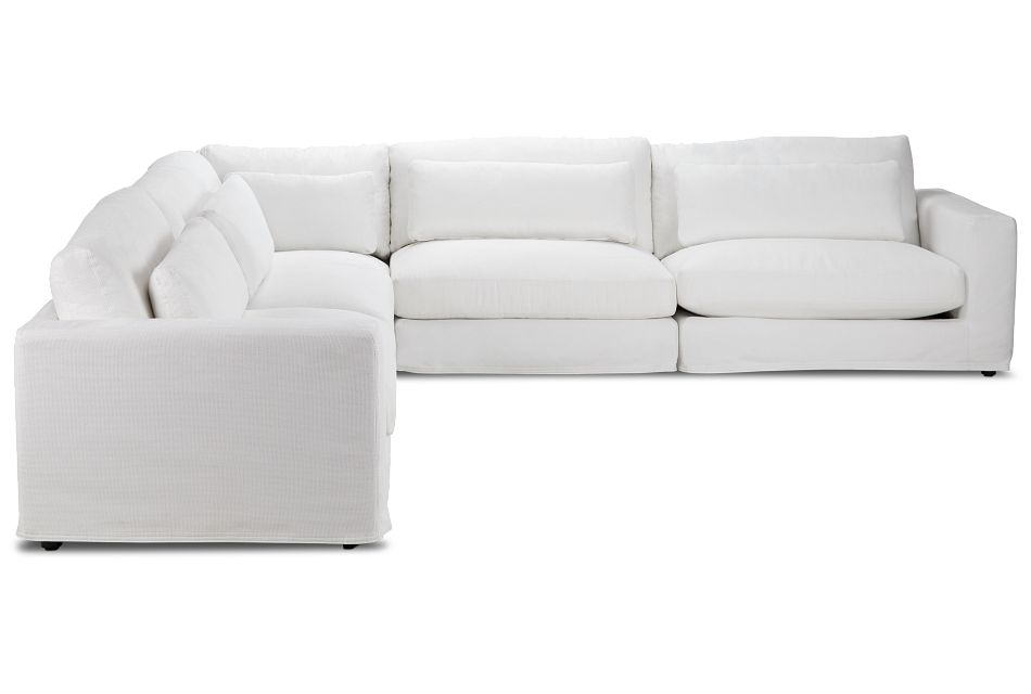 Cozumel White Fabric 5-piece Modular Sectional