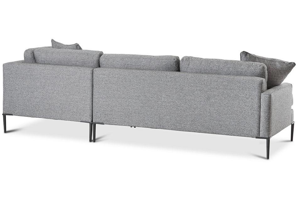 Morgan Dark Gray Fabric Right Bumper Sectional W/ Metal Legs