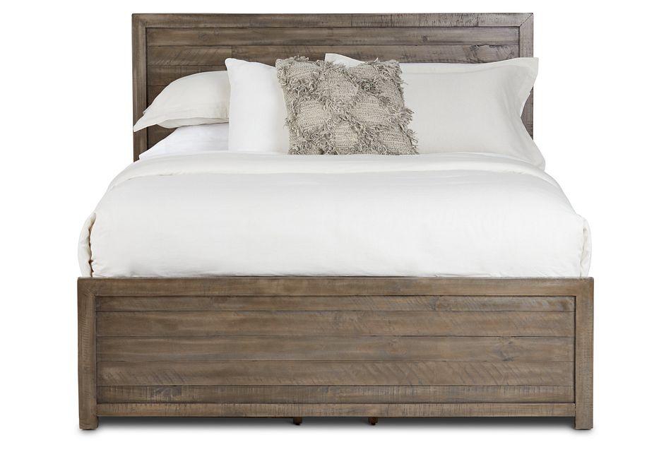 Seattle Gray Wood Platform Storage Bed, Queen (3)