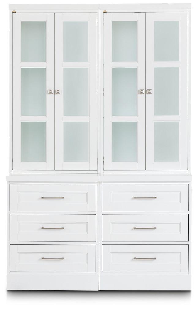 Newport White Drawer Bookcase (1)