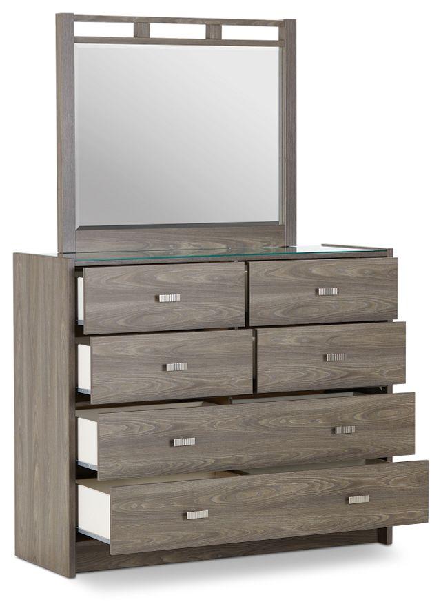 Sutton Light Tone Dresser & Mirror (3)