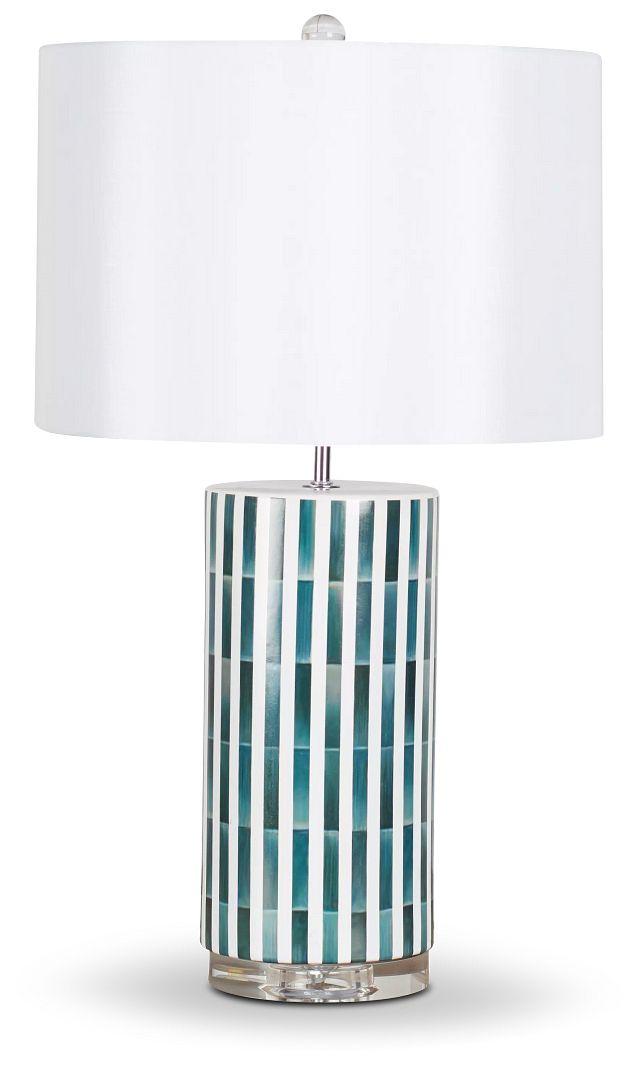 Liam Blue Ceramic Table Lamp (1)