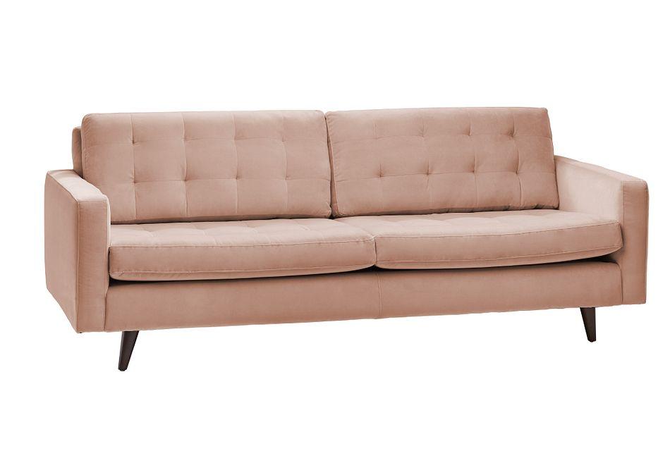 Mila Light Pink Velvet Sofa