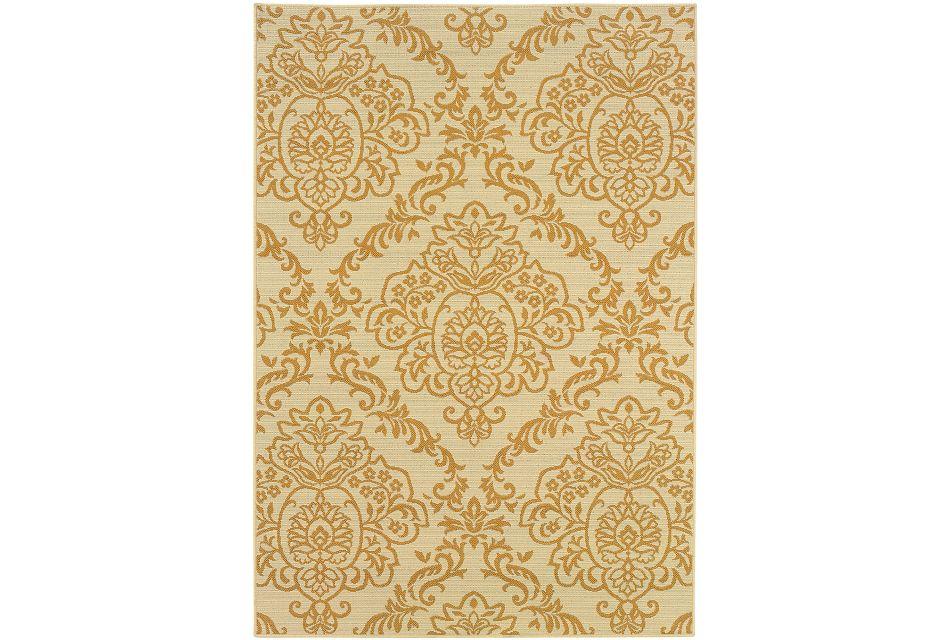 Balie Gold Indoor/outdoor 8x10 Area Rug
