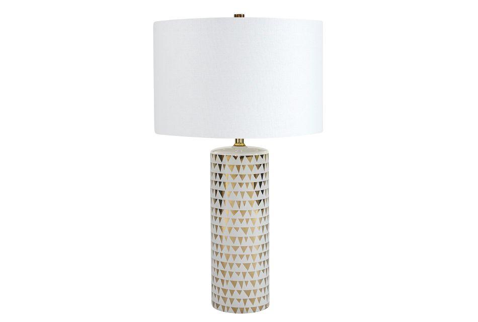 Alejandra Gold Ceramic Table Lamp