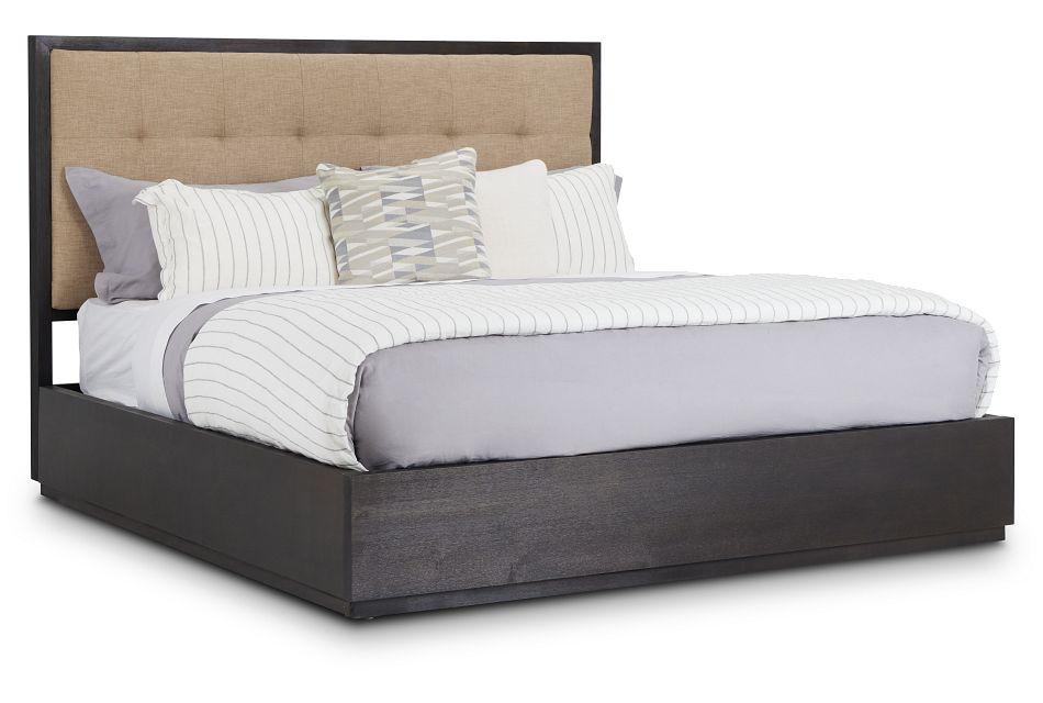 Madden Dark Tone Wood Platform Bed, King (1)