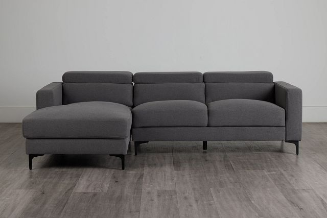 Trenton Dark Gray Fabric Left Chaise Sectional (0)