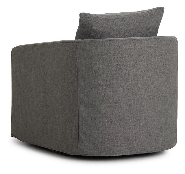 Willow Gray Fabric Swivel Chair