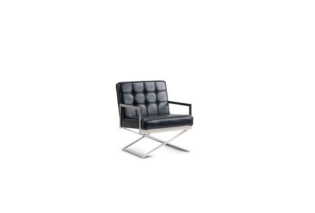 Stark Black Uph Accent Chair
