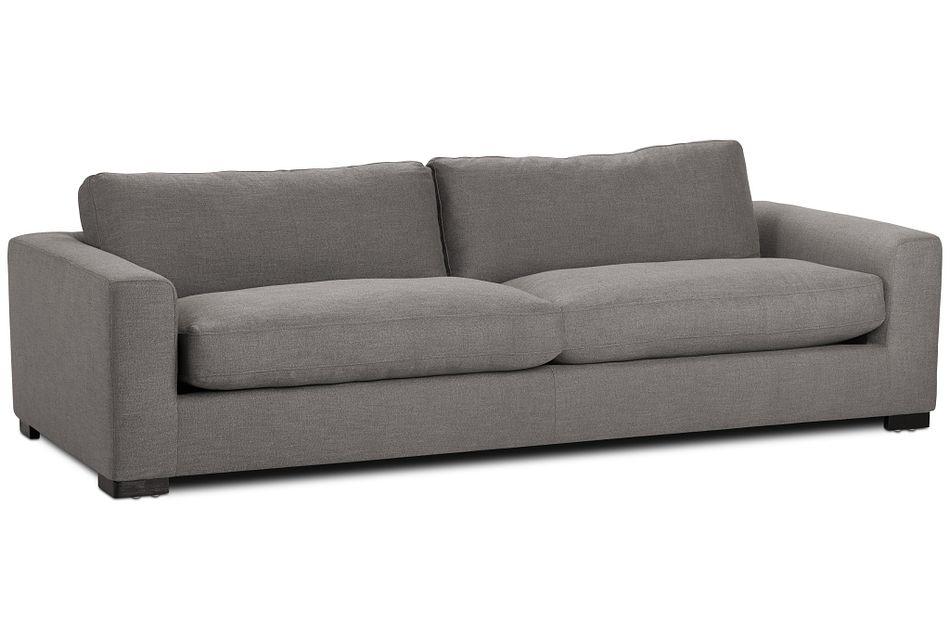 "Bohan 103"" Dark Gray Fabric Sofa"