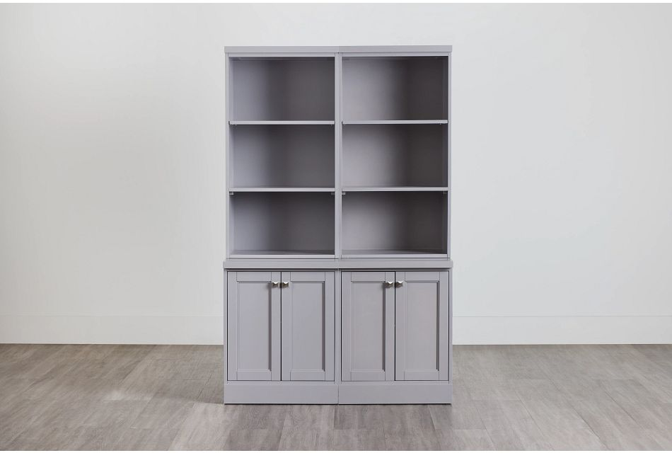Newport Gray Door Bookcase,  (0)