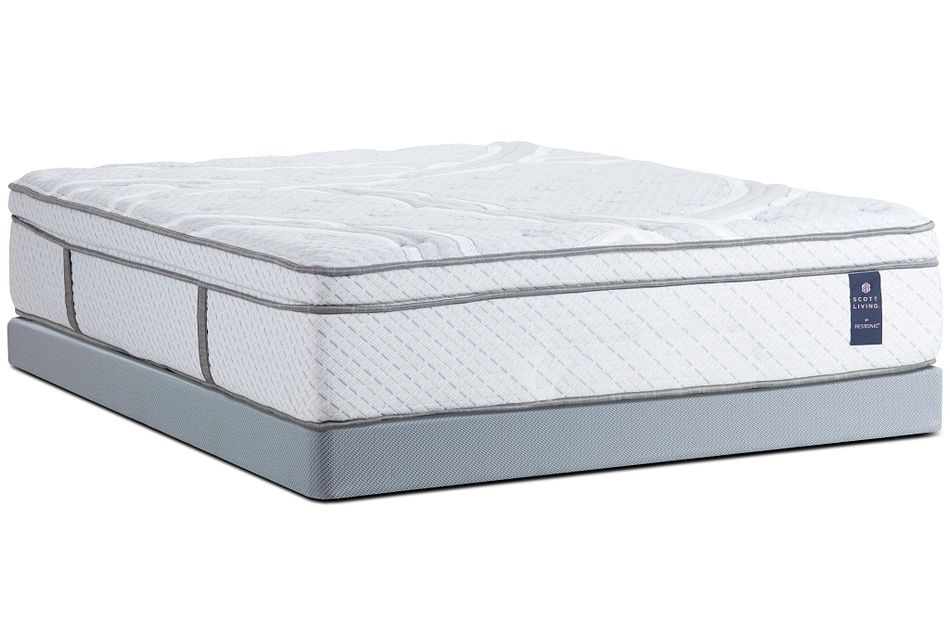 "Bonaire 200 Euro Top Super Soft PLUSH 14"" Low-Profile Mattress Set"